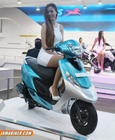 TVS Scooty Zest presented at Auto Expo 2014