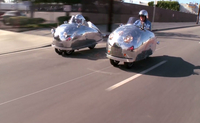Jay Leno And The Piaggio MP3 Decopods