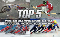 Winter Olympic Sports That Parallel Motorcycle Racing