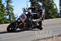 UPDATE: CYCLE WORLD RETURNS TO THE CLOUDS Our rebuilt Victory Project 156 Pikes Peak Hill Climb Special has overcome a major setback and is ready for