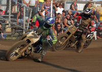 AMA Pro Flat Track riders ready to throw around the pea-gravel and try to win the Lima Half-Mile scheduled for June 27