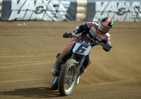 Harley-Davidson's Brad Baker Dominates Lima Half-Mile for His First Win of the AMA Pro Flat Track Season