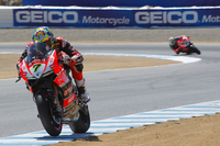 It Ducati wSBK's Chaz Davies Ends Opening Day at Laguna Seca in Charge