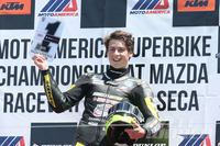 MotoAmerica UPDATE: Mazda Raceway Laguna Seca Roberts crowned 600 Superstock 600 champ; Hayes and Beaubier leave Monterey tied in Superbike points.