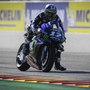 Viñales fires Warm Up warning by ending fastest in the wet